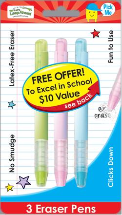 3 Eraser Pens