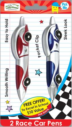 2 Race Car Pens