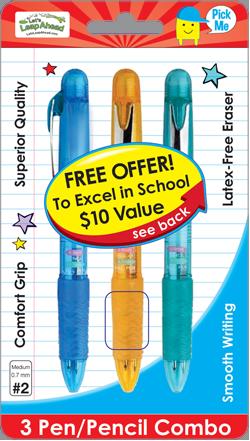 3 Pen/Pencil Combo