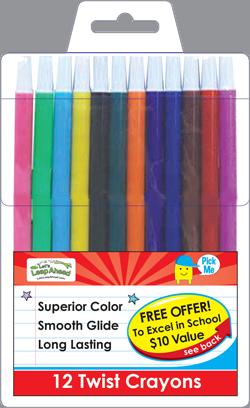 12 Twist Crayons